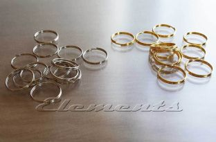 13 mm Gold Plated Steel Split Rings